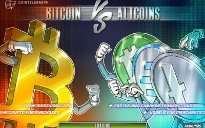 Piaci kapitalizáció, dominancia alakulása a crypto térben