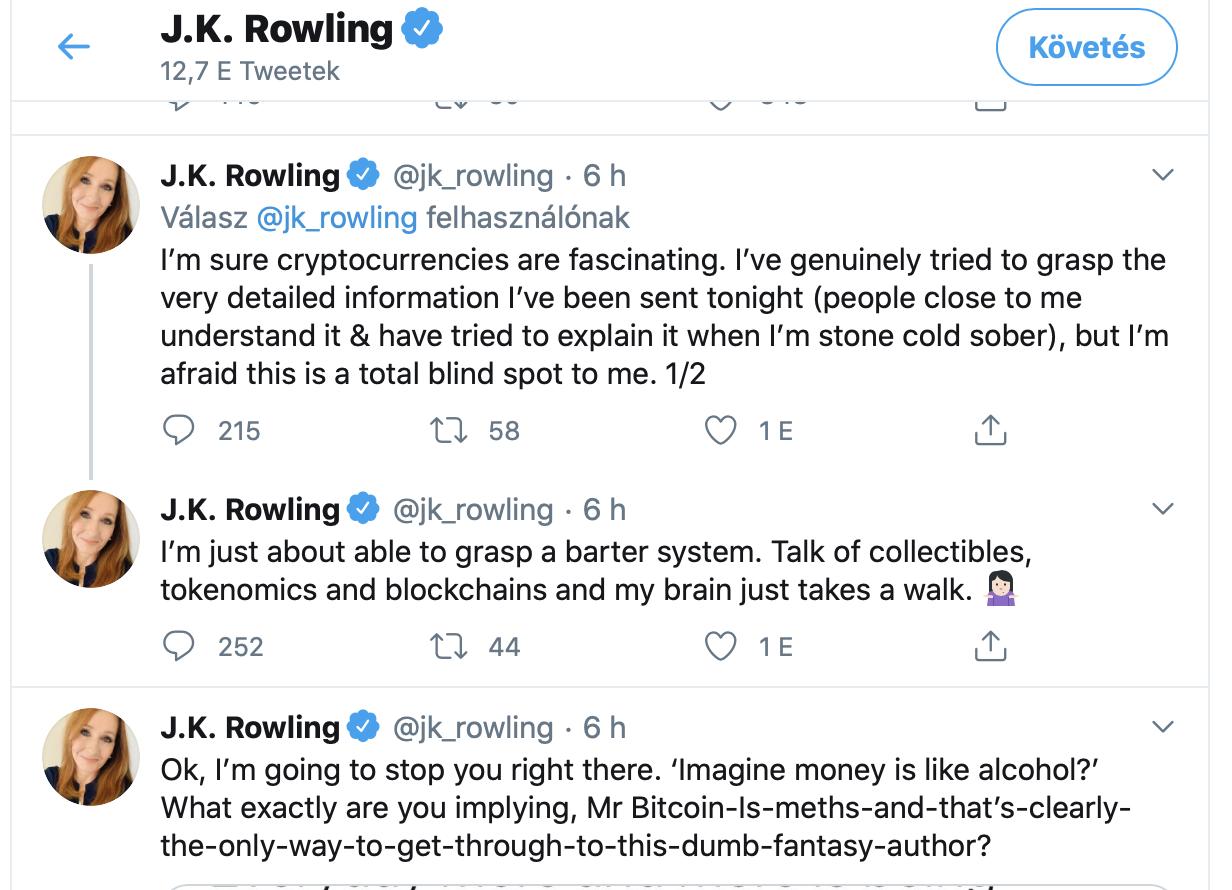JK Rowling Bitcoin I Cryptofalka