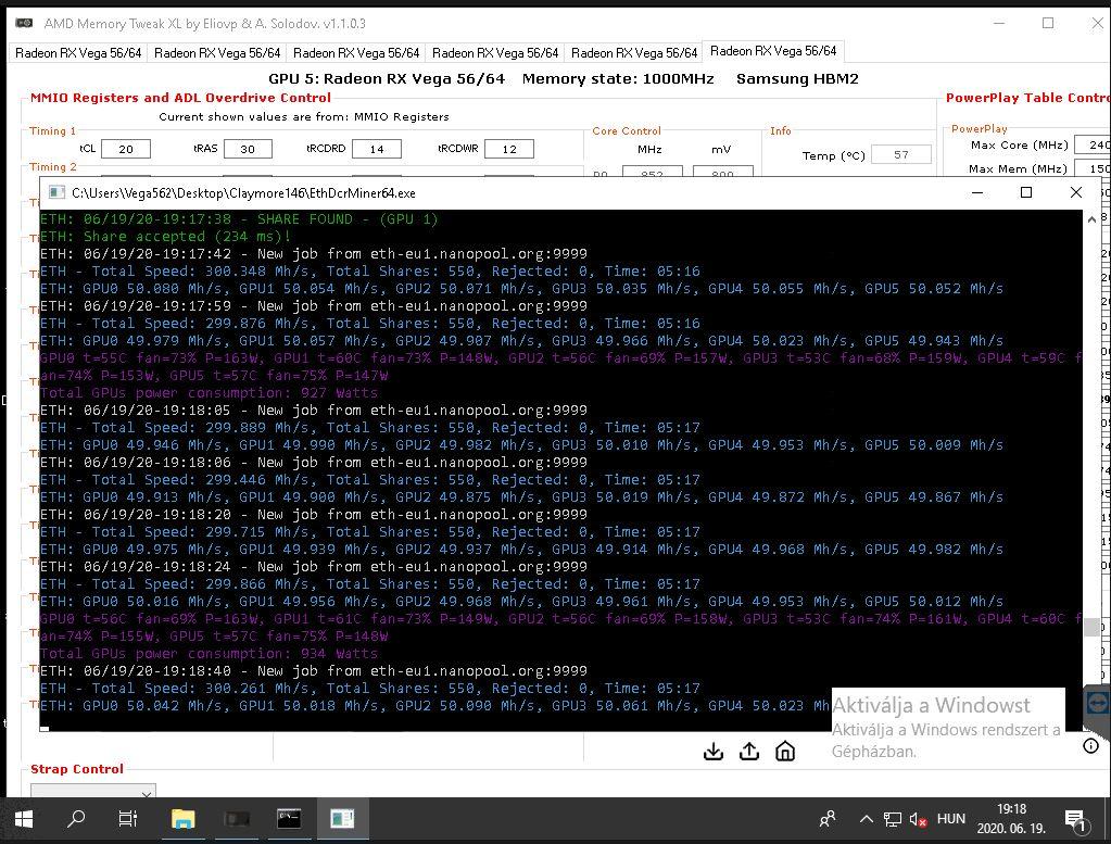 AMD Vega 56 beállítás I Cryptofalka