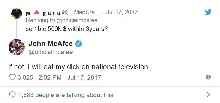 John McAfee megeszi a saját nemiszervét I Cryptofalka