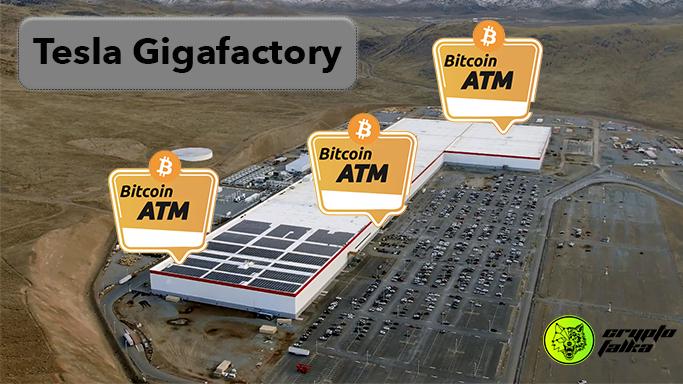 Telsa Gigafactory Bitcoin ATM I Cryptofalka