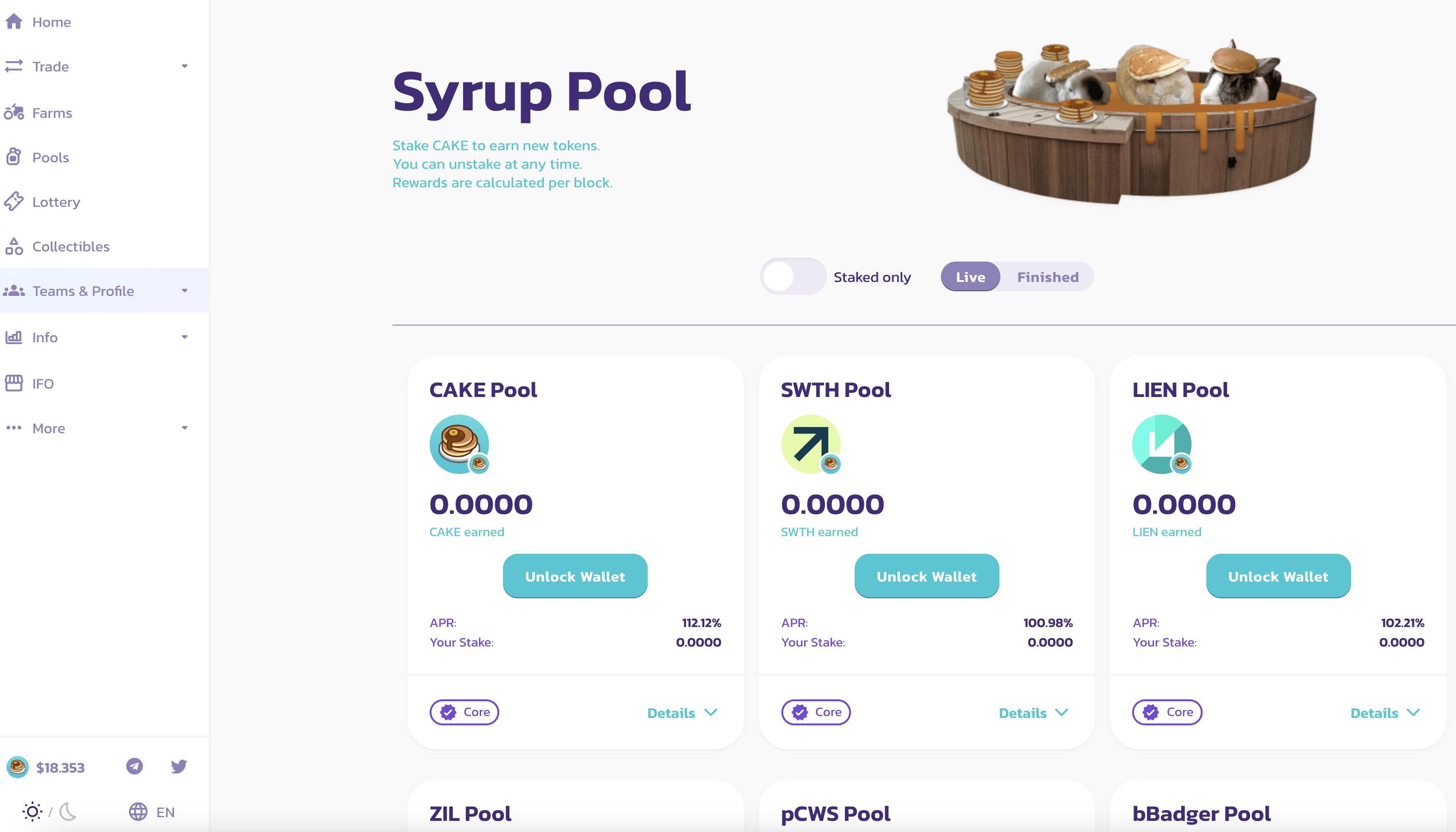 Pancakeswap syrup pool I Cryptofalka