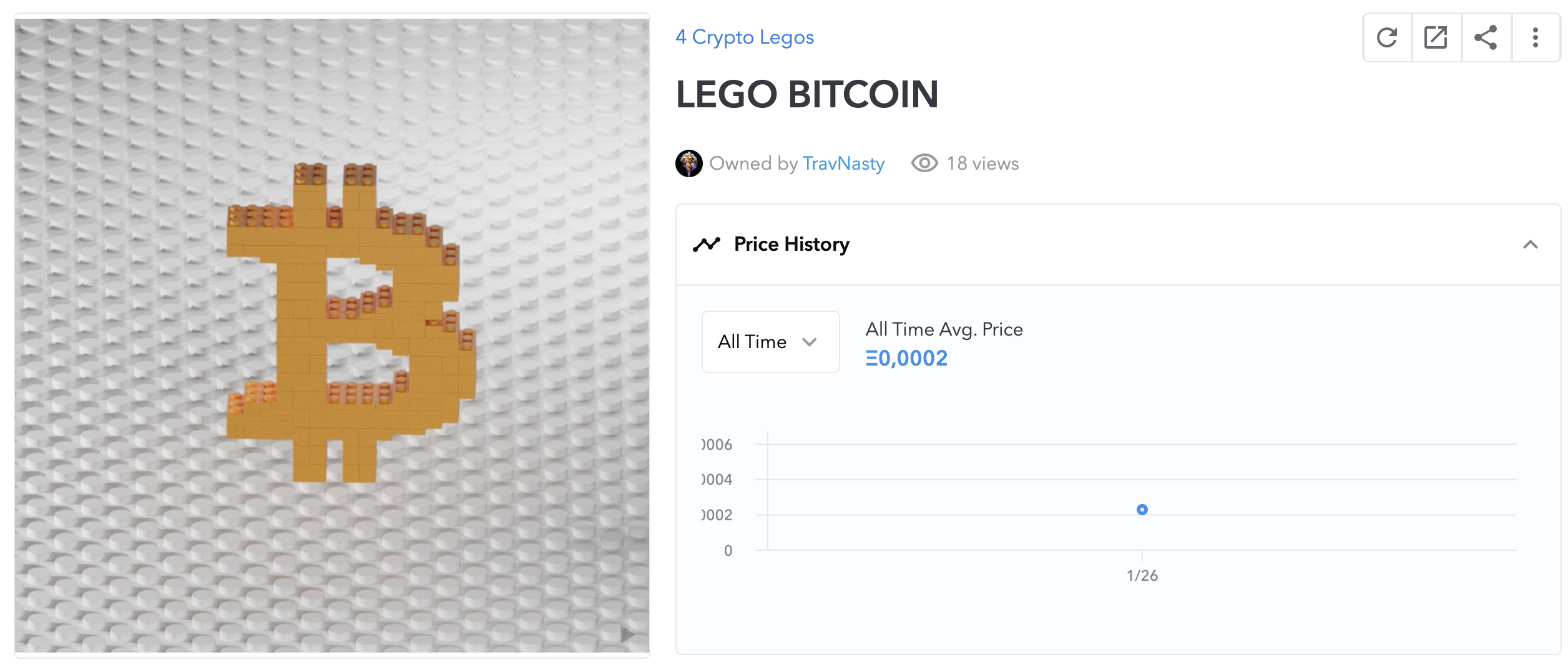 LEGO BTC NFT I Cryptofalka
