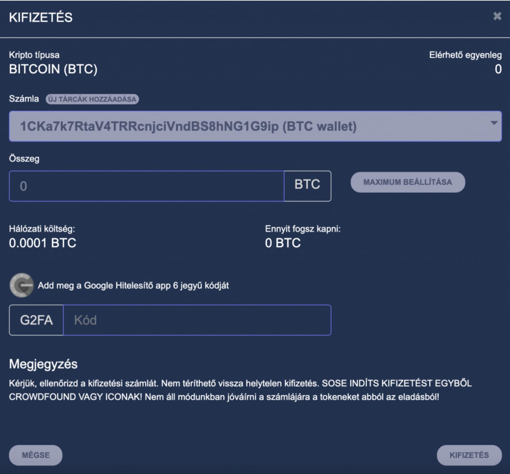 Bitcoin Külső tárcára utalás BitPadréról I Cryptofalka