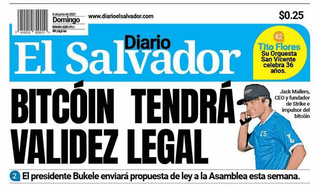 el salvador bitcoin headline