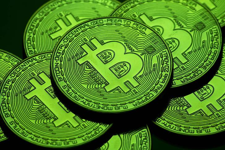 Zöld Bitcoin I Cryptofalka