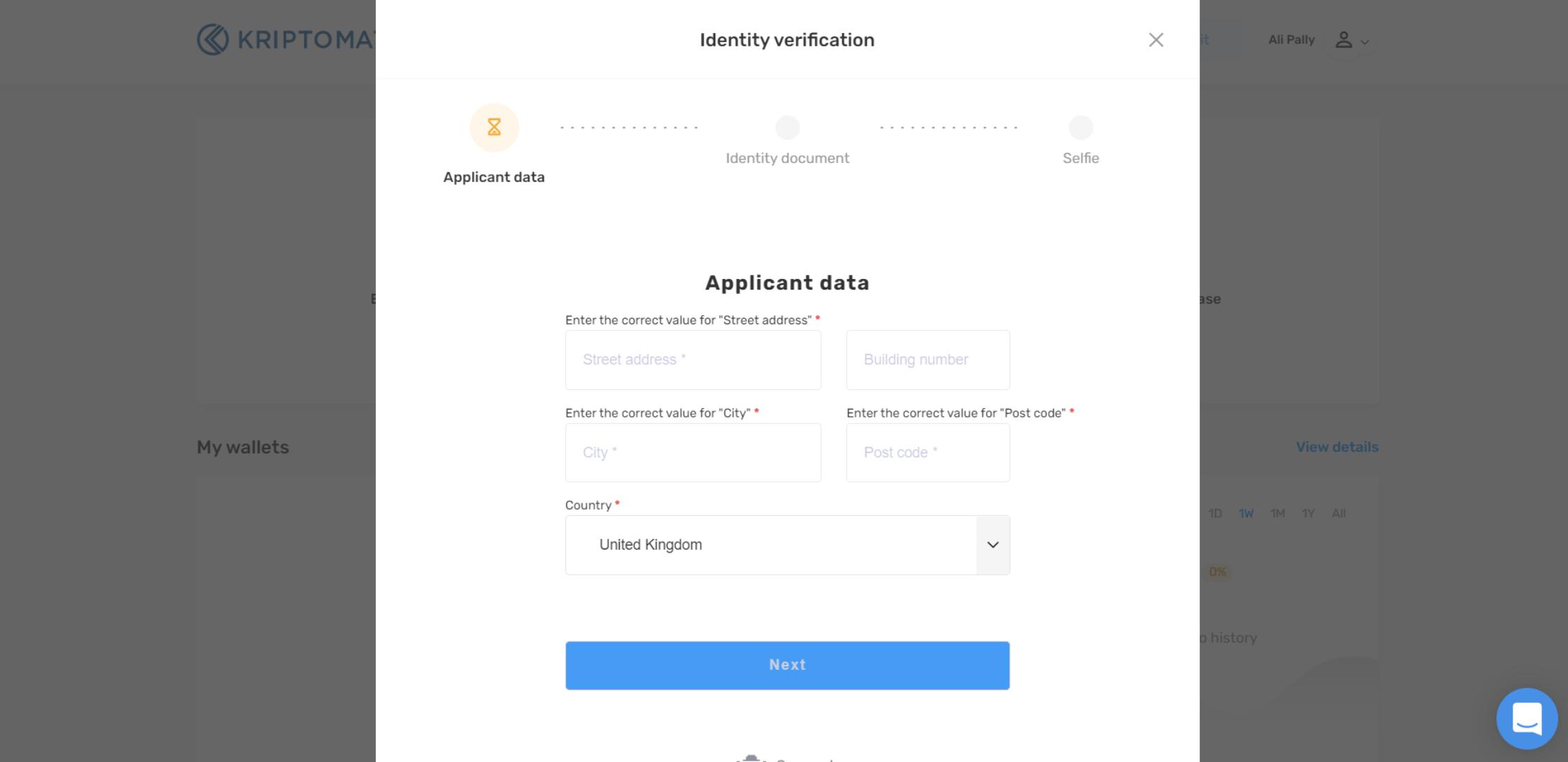 Kriptomat regisztráció | Cryptofalka