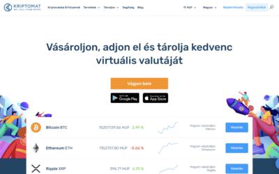 Kriptomat Bitcoin és kriptovaluta váltó bemutatása