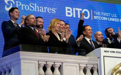 Egymilliárd dolláros forgalmat bonyolított az első Bitcoin ETF, a BITO
